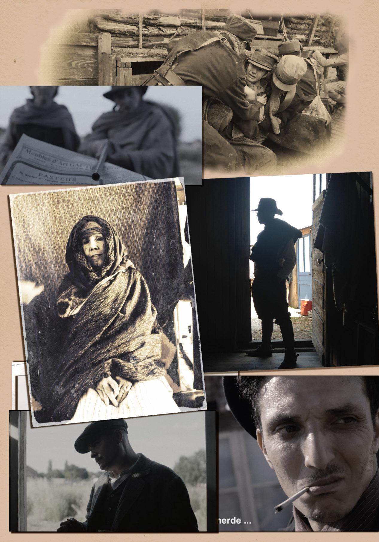 Planche 02 : photos d'archive et de tournage de la série