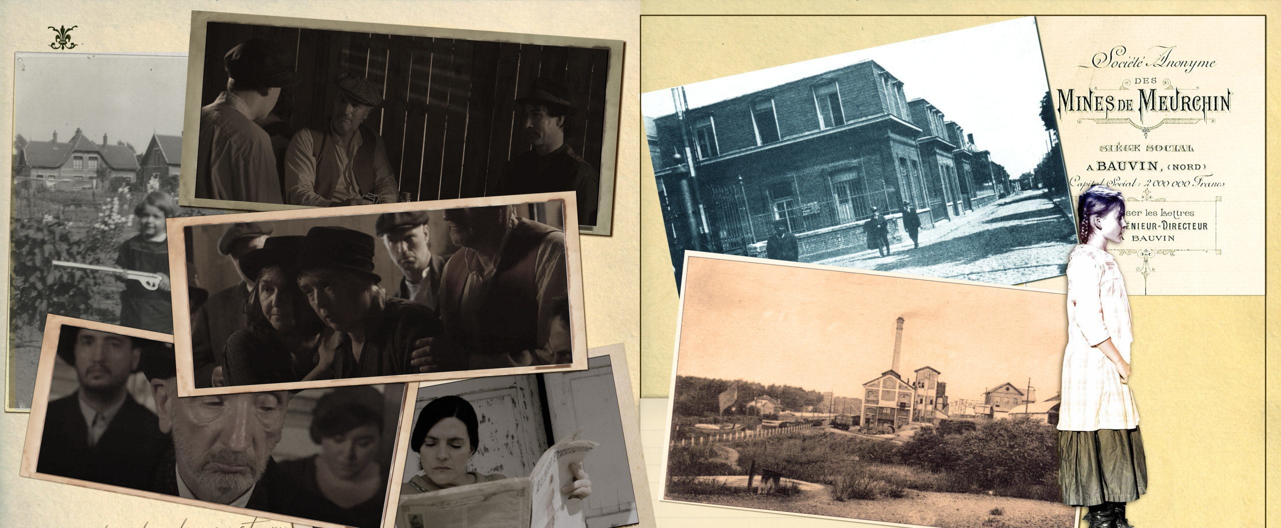 Planche 03 : photos d'archive et de tournage de la série